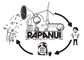 Rapanui are an eco friendly fashion brand based on the Isle of Wight. If you haven't heard of them already, you soon will, because they're awesome and they only sell clothing that is ethically made and kind to the planet. Every order they dispatch is packed in a 100% biodegradable envelope and I produced this illustration to go on the front of each one. It depicts the lifecycle of a Rapanui garment; starting life as organic cotton, being harvested ethically and processed using renewable energy, being worn and then composted at the end of it's life, creating fertile soil to grow more cotton and begin the cycle again. The squirrels, for anybody wondering, are an Isle of Wight reference.